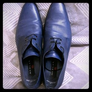 Mezlan Blue Martini Oxfords (10M)
